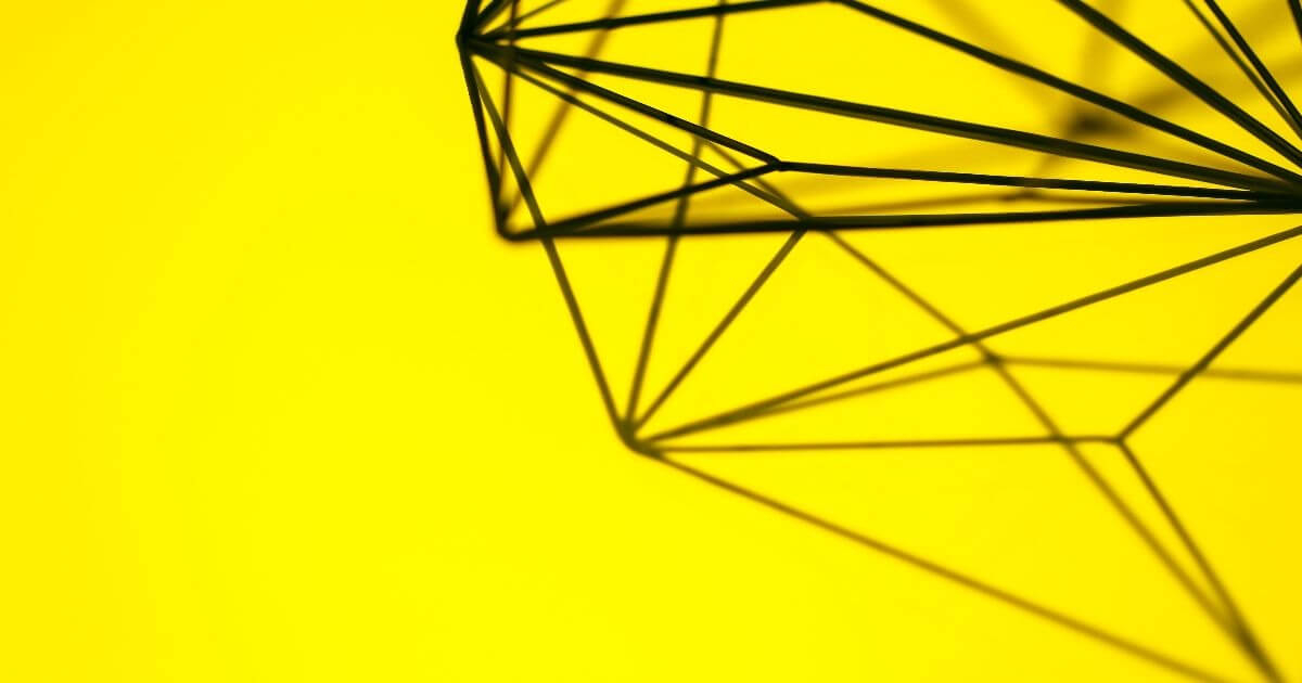 yellow art design structure